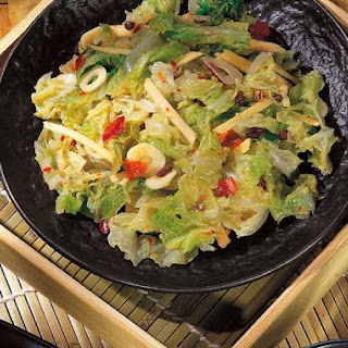 Chinese Spicy Pickled Napa Cabbage.