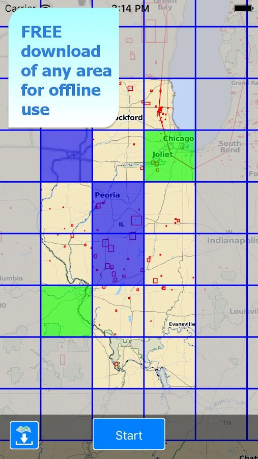 Aqua Map Illinois Lakes GPS- screenshot