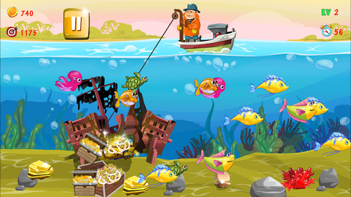Gold miner, Fishing, gold rush apkmr screenshots 16