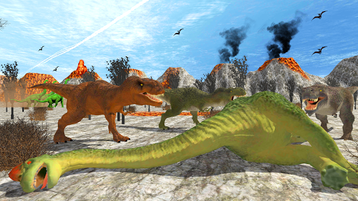 Télécharger Hungry Dinosaur Games Simulator Dino Attack 3D mod apk screenshots 2