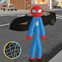 Amazing Stickman Spider Rope Hero Gangsters City icon