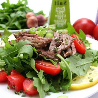 Warm Salad With Veal And Honey Mustard Dressing