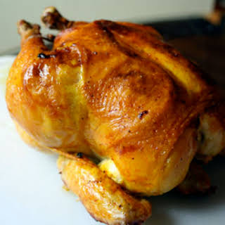 Roast Chicken with Saffron and Lemons.