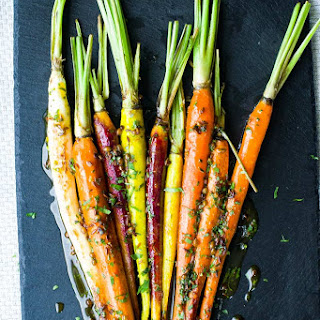 Roasted, Glazed, Brown Sugar Carrots.