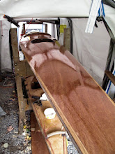Photo: fore to aft, immediately post EAST epoxy coat #1
