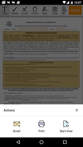 DS-11 form  screenshots 3