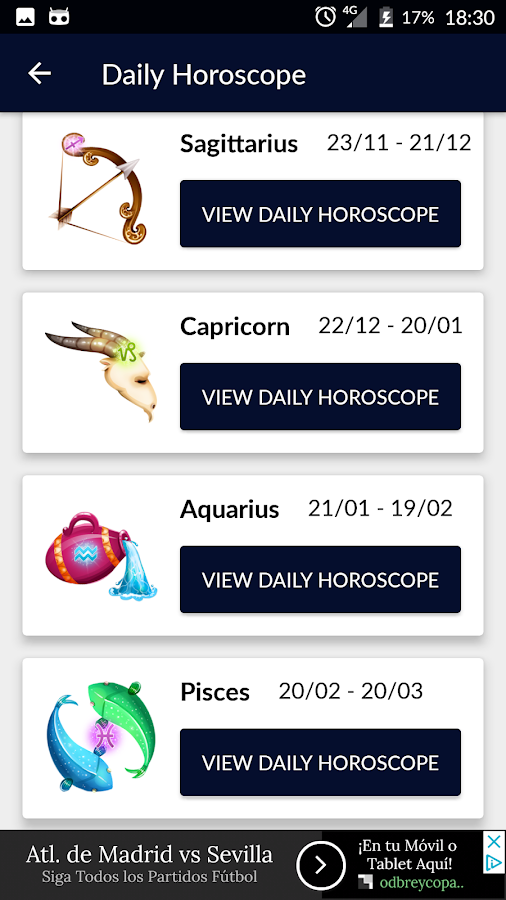 Daily Horoscope 2018: Zodiac Signs, Astrology FREE- screenshot