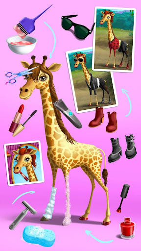 Jungle Animal Hair Salon - Styling Game for Kids android2mod screenshots 8