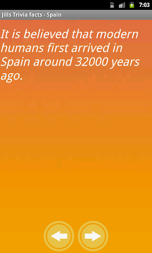 Jill's Trivia facts: Spain