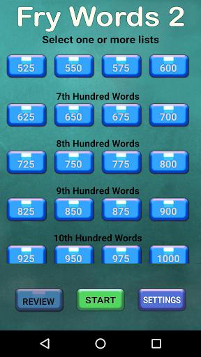 Fry Words 2 (Free) screenshot 3