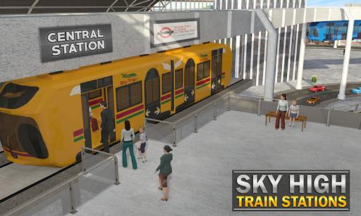 Elevated Train Driving Simulator: Sky Tram Driver apktram screenshots 5