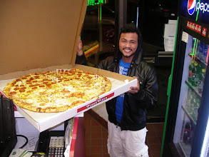 """Photo: 28"""" PIZZA AND SAID ITS ALL FOR HIM!! HAHAHAH"""