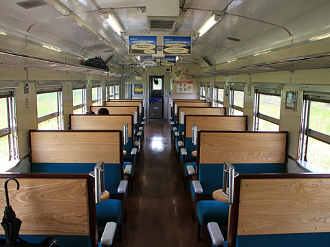 JR北海道 観光列車「風っこそうや」 音威子府にて_11 1号車 車内