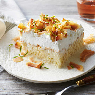 Coconut Tres Leches Sheet Cake.
