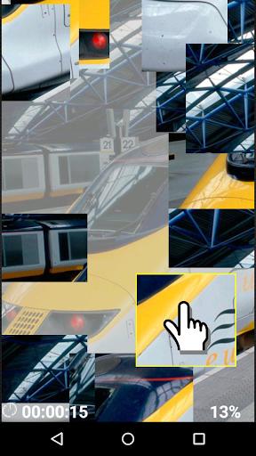 Metal road train logic game