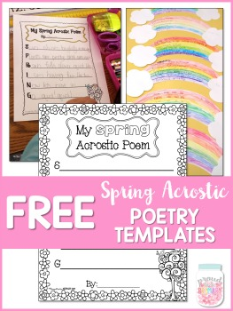 free spring acrostic poems template