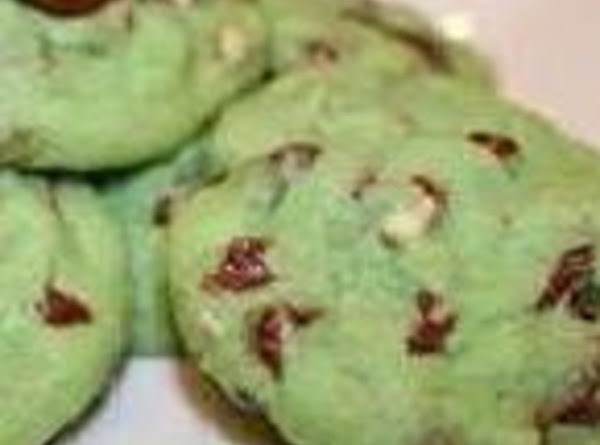 Green Mint Chip Cookies Recipe