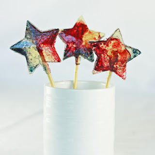 Red White and Blue Lollipops