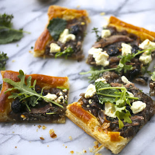 Caramelized Onion, Olive and Goat Cheese Tart.