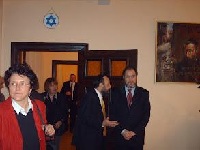Photo: Ilona Cousin,rabin Michael Schudrich i Piotr Kadlczik