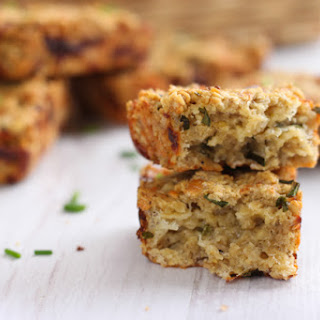 Cheese And Chive Savoury Flapjacks