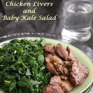 sautéed Chicken Liver Recipe with Baby Kale Salad