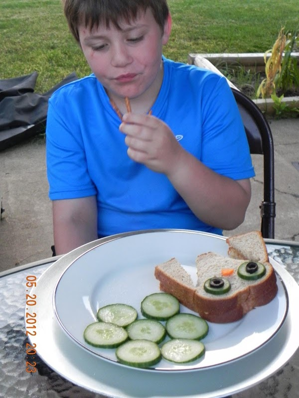 If it's nice outside then serve the sammies outside. It's fun for the kids...
