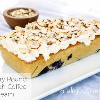 Blueberry Pound Cake with Coffee Buttercream.
