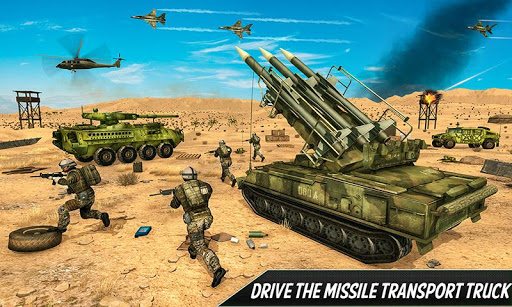 US Army Missile Attack : Army Truck Driving Games  screenshots 3