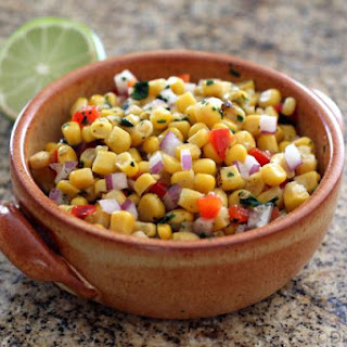 Easy Corn Salsa With Peppers