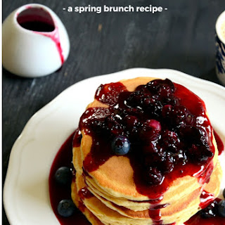 Blueberry Lemon Buttermilk Pancakes | Spring Brunch