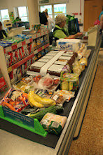 Photo: Our weekly shop, mixed with the ingredients for our greek extravaganza.  Every till was open so, despite the crowds, we didn't need to wait long at the checkout.