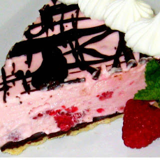 Frozen Raspberry Chocolate Pie.