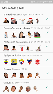 Stickers ecuatorianos para WhatsApp 2