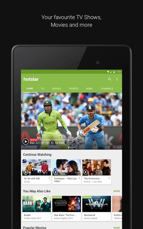 Hotstar- screenshot