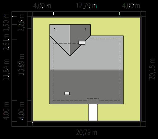 Simon IV G2 - Sytuacja - wariant bez garażu
