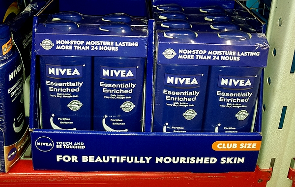 Photo: Then it was on the to lotion and body wash aisle! It's one of my favorite aisles actually. I love lotion! The NIVEA was easy to find. I think it stands out on the shelf because of the blue bottle. In a sea of white lotion bottles, I quickly spotted the NIVEA blue bottle.