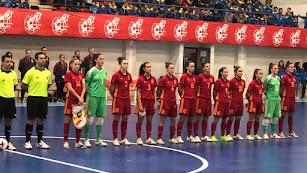 La Selección Española femenina de fútbol sala.