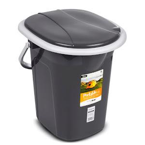 Toaleta portabila camping, Galida WC 19L GreenBluee GB320AG