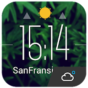 Floating  clock weather today  Icon