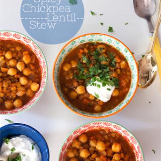Spicy Chickpea + Lentil Stew.