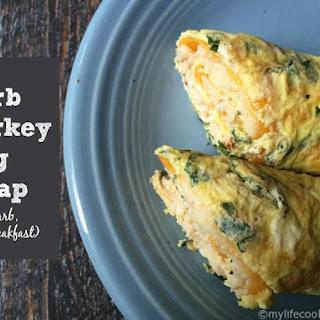 Herb Turkey Egg Wrap (Low Carb, Paleo).