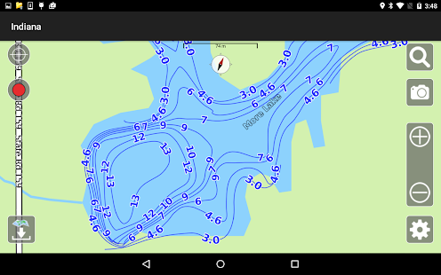 Aqua Map Indiana Lakes GPS- screenshot thumbnail