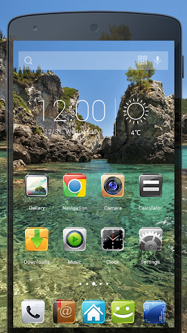 android 3D Fresh Style-Solo Theme Screenshot 1