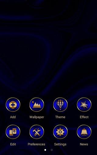 Abstract Blue Go Launcher Screenshot 3