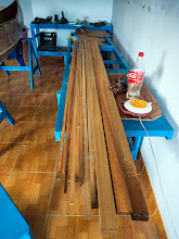 Photo: the wood has density at about: 1.15 (1150 kg/m3), very heavy and hard, I'm fearing that the wood will add much weight into the boat