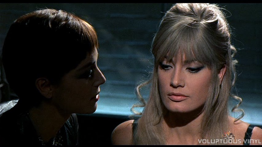 Elsa Martinelli and Marisa Mell in giallo film One On Top Of The Other
