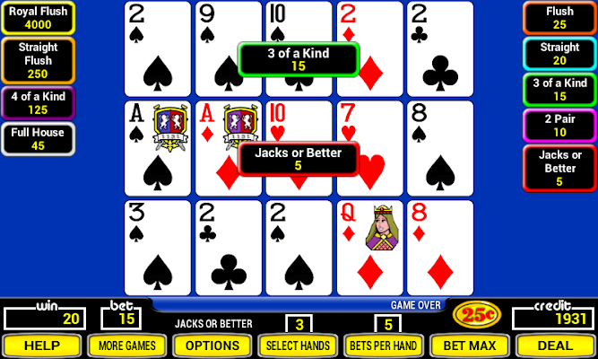 Triple Play Poker - screenshot