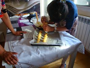 Photo: Preparando bocaditos de nata