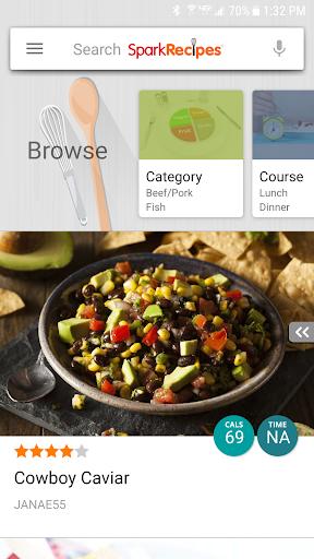 Healthy Recipes - SparkRecipes screenshot 1